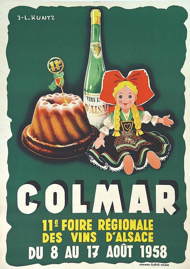 KUNTZ JEAN-LOUIS  Foire Régionale des Vins d'Alsace     1958