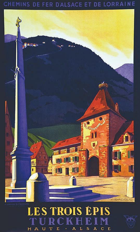 GADOUD  L.  Turckheim - Les Trois épis     vers 1930
