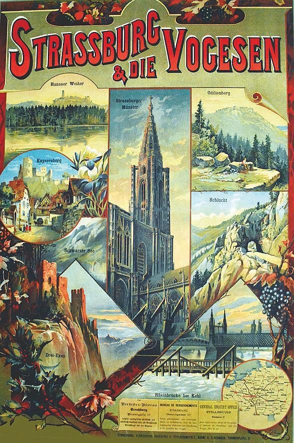 FLORMAY JEAN  Strassburg Vogesen & Die     vers 1900