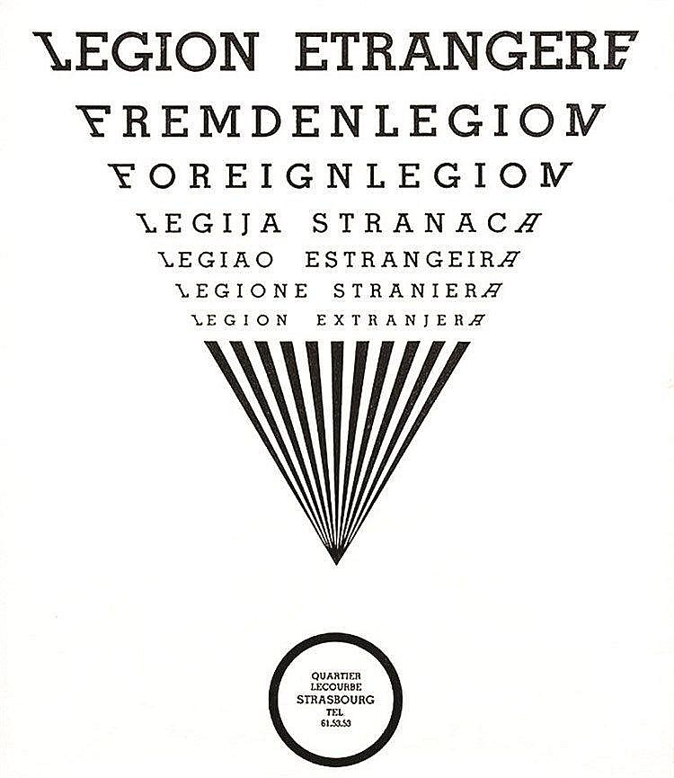 BARDIS A.  Légion Etrangère Quartier  Lecourbe - Strasbourg     1975  Strasbourg (Bas-Rhin)