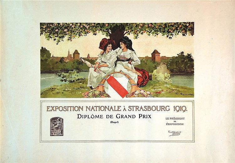 SPINDLER CHARLES Exposition Nationale à Strasbourg 1919 1919