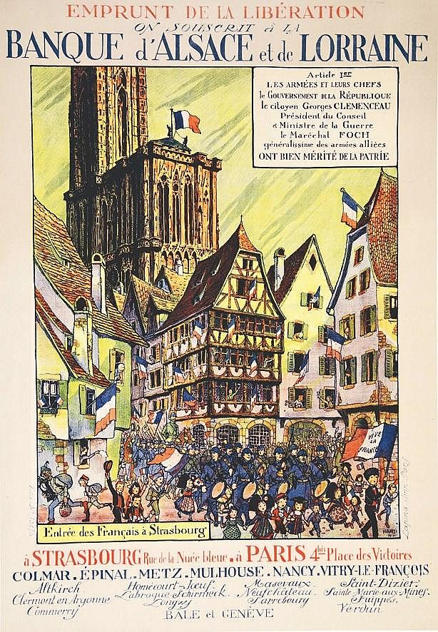 HANSI  Banque d'Alsace et de Lorraine     1917  Strasbourg (Bas-Rhin)