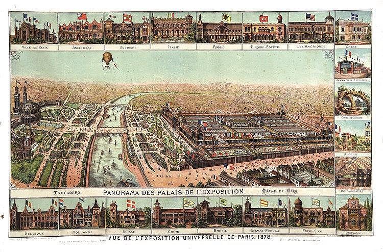 Vue de L'exposition Universelle de Paris 1878     1878