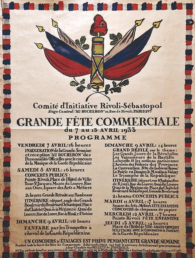 ARNOUX GUY Grande Fête Commerciale Rivoli-Sébastopol 1933