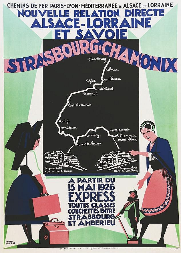 BRODERS ROGER  Strasbourg-Chamonix - Nouvelle Relation Directe Alsace- Loraraine et Savoie     1926