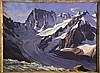BOULANGER ALBERT ( 1901 - 1978 )  Les Grandes Jorasses:  Vue du Couvercle - Mont Blanc huile sur toile / Oil on canvas sign Boulanger     Vers 1930, Albert Boulanger, €2,000