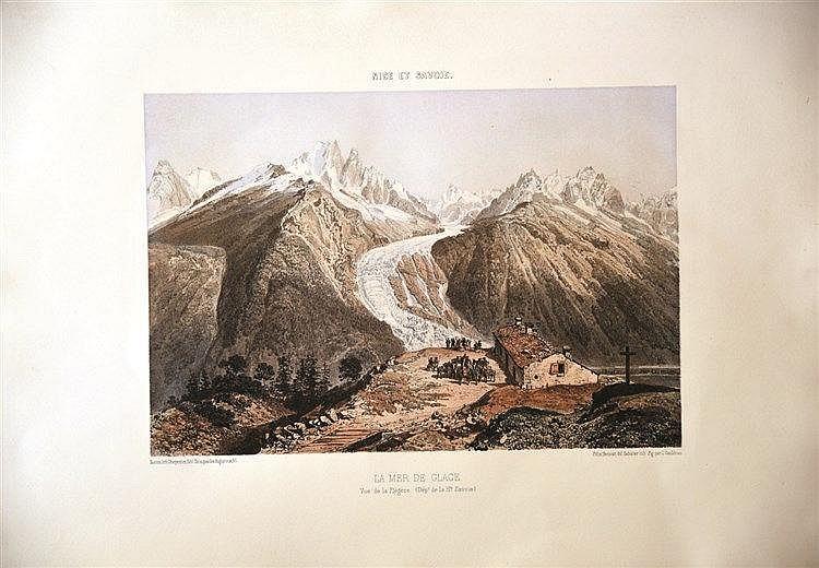 BENOIST-GITONIERE Yves  La Mer de Glace et la Vallée de Chamonix     Vers 1860