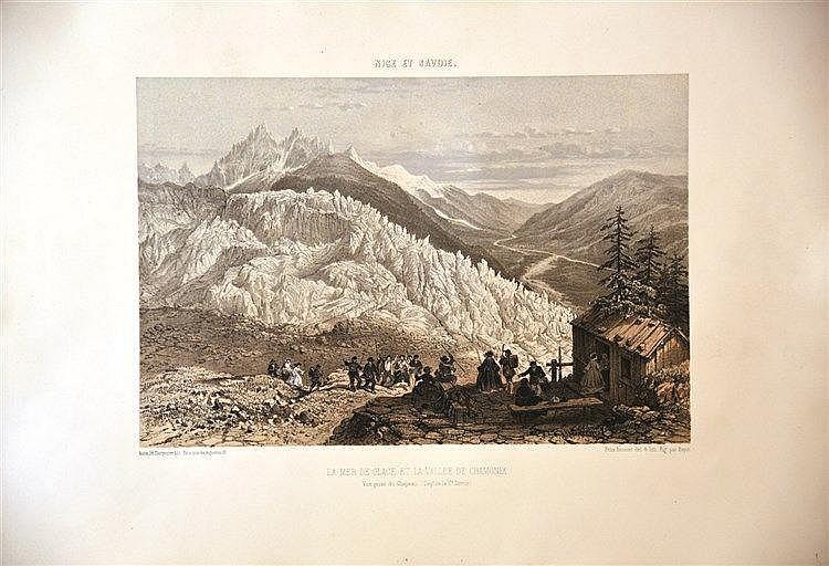 BENOIST FELIX  Chamonix La Mer de Glace     vers 1860