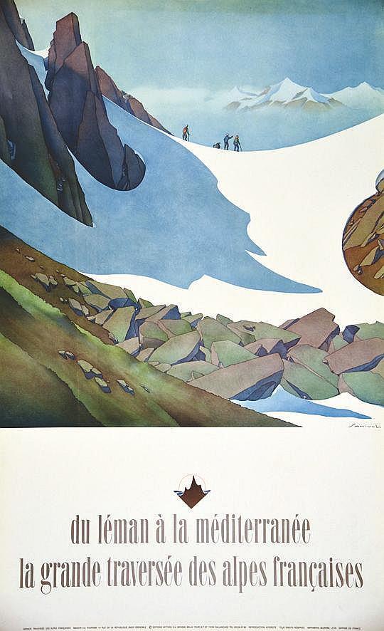 SAMIVEL  La Grande traversée des Alpes Françaises     vers 1970