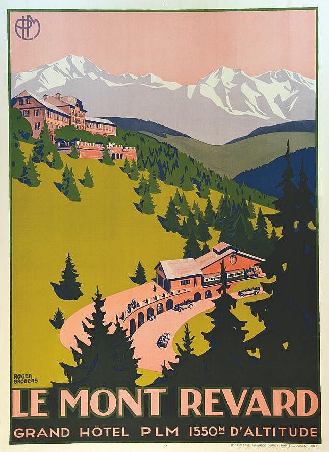 BRODERS ROGER  Mont Revard - Grand Hotel PLM     1927