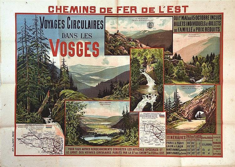 Voyages Circulaire dans les Vosges     vers 1900