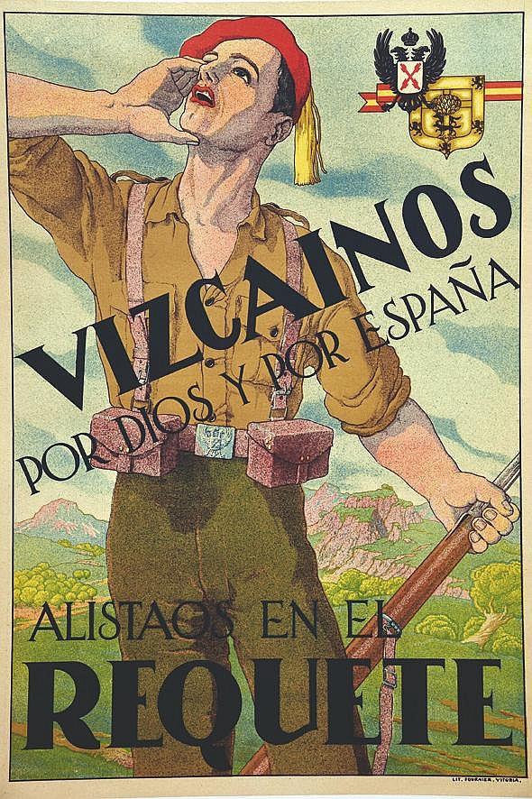 Vizcainos Por Dios y Por Espana - Alistaos en El Requete     vers 1930