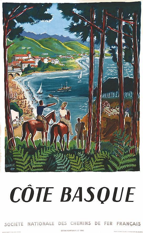 BAILLE HERVE Côte Basque 1950