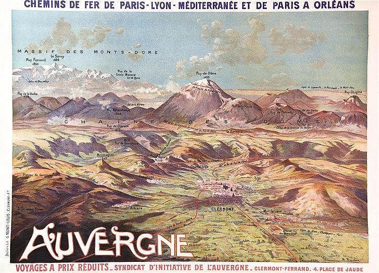 TRINQUIER TRIANON L. L'Auvergne ( La Chaine des Puys ) vers 1900