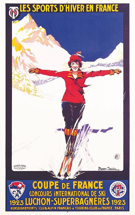 SOUBIE ROGER  Luchon Superbagnères     1923