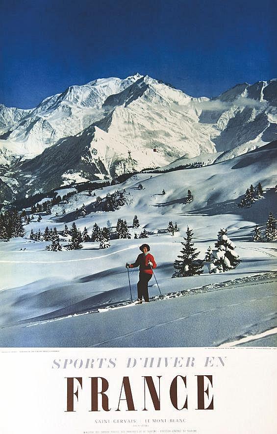 PHOTO : MACHATCHEK  St Gervais Mont Blanc - Sports D'Hiver en France     1956