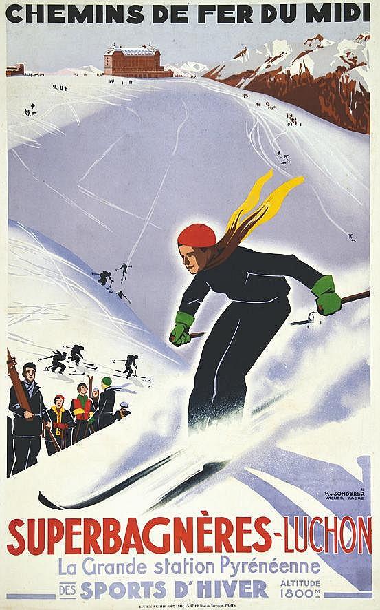 SONDERER R. Superbagnières de Luchon 1932