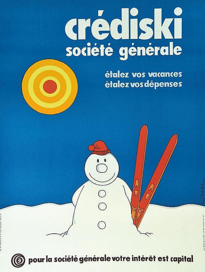 USSEL Société Générale Crédit Ski vers 1970