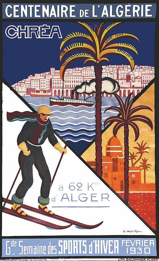 VENTRILLON G.  Chréa - Centenaire de L'Algérie - Encadrée / Framed     1930