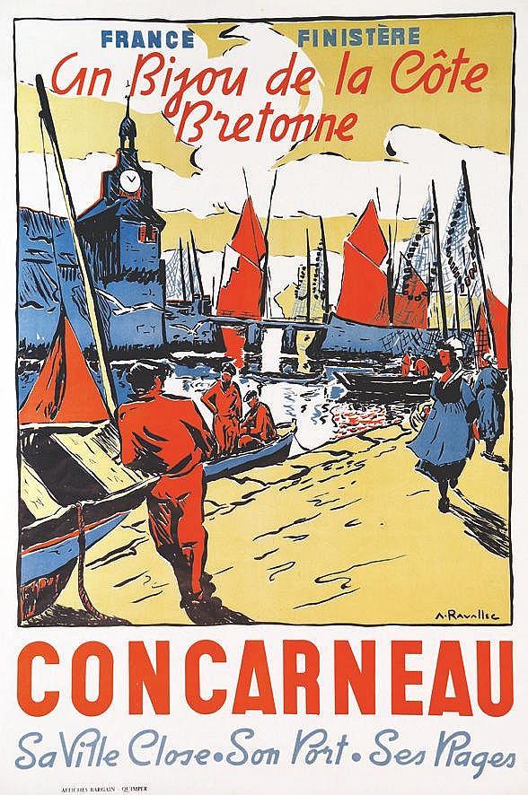 RAVALLEC  A.  Concarneau - Un Bijou De La Cote Bretonne -  France Finistére     vers 1950