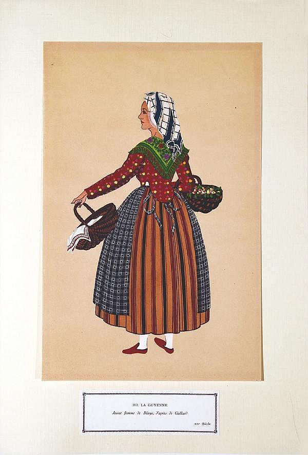 Jeune Femme de Blay -  La Guyenne     vers 1900