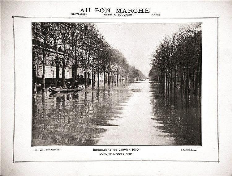 Avenue Montaigne - Les Inondations de Janvier 1910     1910