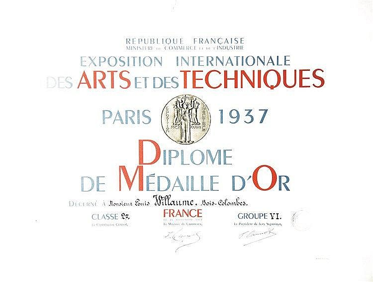 Exposition Internationale des Arts et Techniques - Paris - 1937     1937