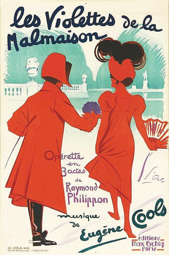 DOLA  GEORGES  Reuil Malmaison - Les Violettes de la  Malmaison.     1929  Reuil Malmaison ( Hauts de Seine)