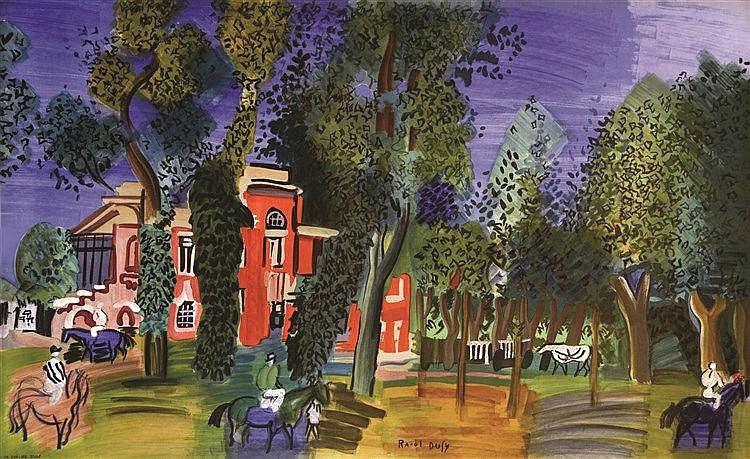 DUFY RAOUL  Le Paddock à Deauville - Musée National D'art Moderne     1964