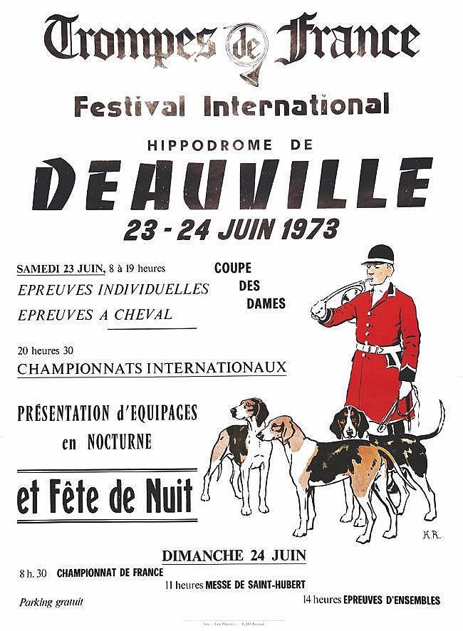 K. R. Deauville Trompes de France Hippodrome de Deauville 1973 Deauville ( Calvados )