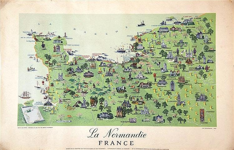 BATTISTINI J.  La Normandie     vers 1950