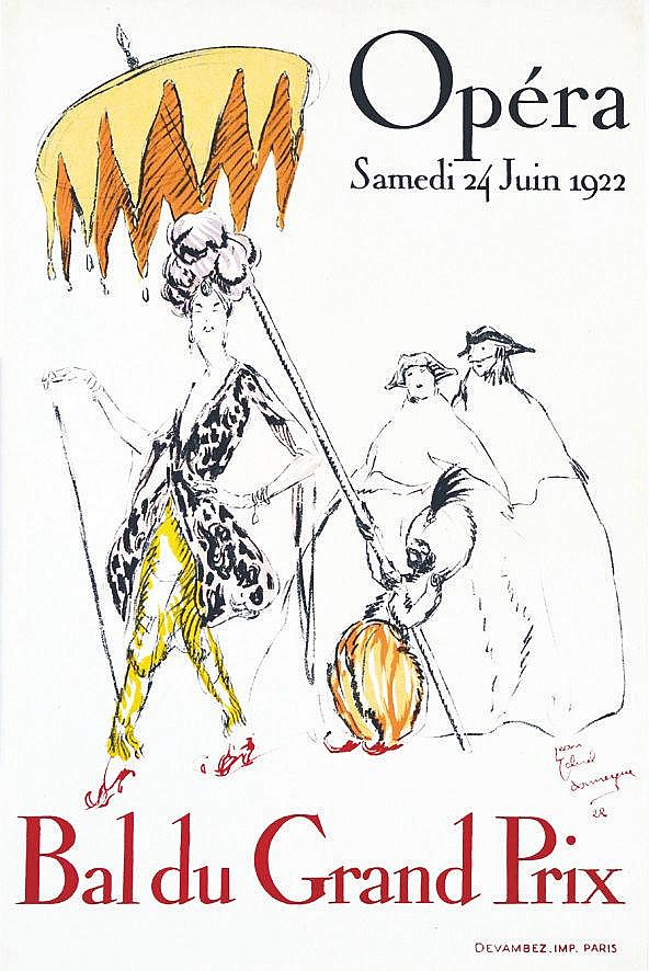 DOMERGUE J. G. Opéra 1922. Bal du Grand Prix 1922