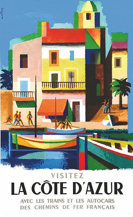 NATHAN La Côte D'Azur ( Port Grimaud ) 1963