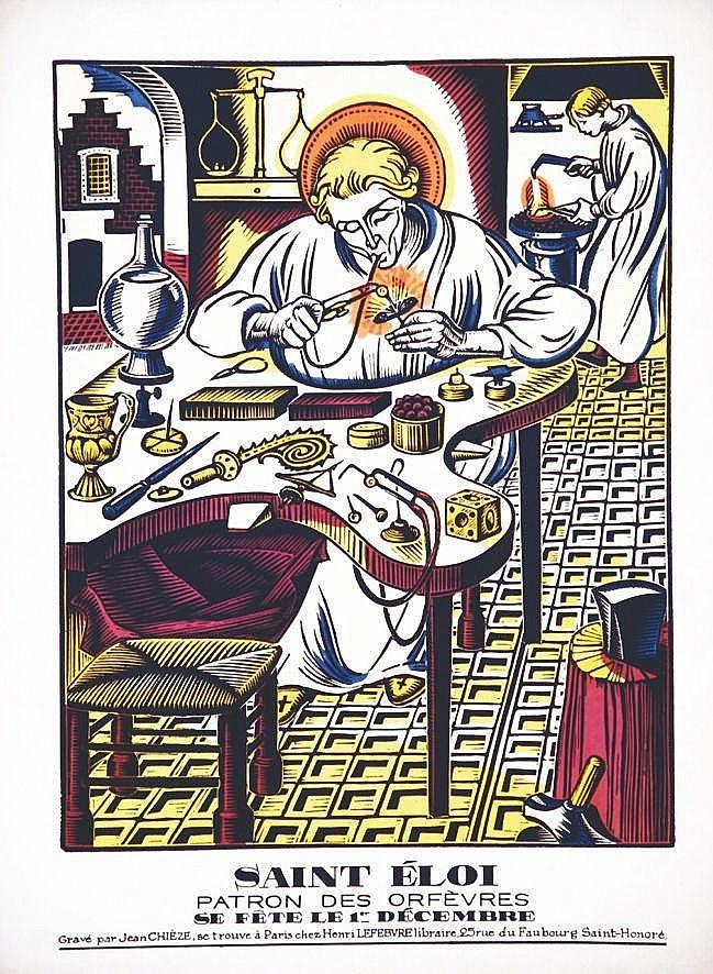 CHIEZE JEAN Saint Eloi Patron des Orfèvres 1 Décembre vers 1930