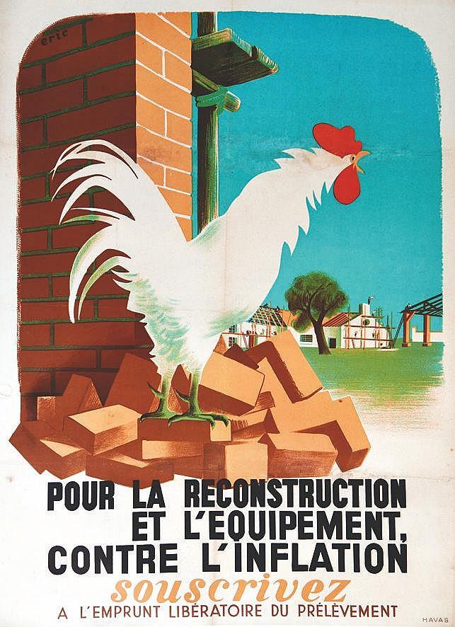 ERIC  Pour la Reconstruction et l'Equipement Contre L'Inflation     vers 1950