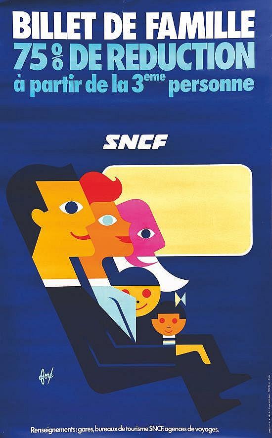FORE  Billet de Famille SNCF     1973