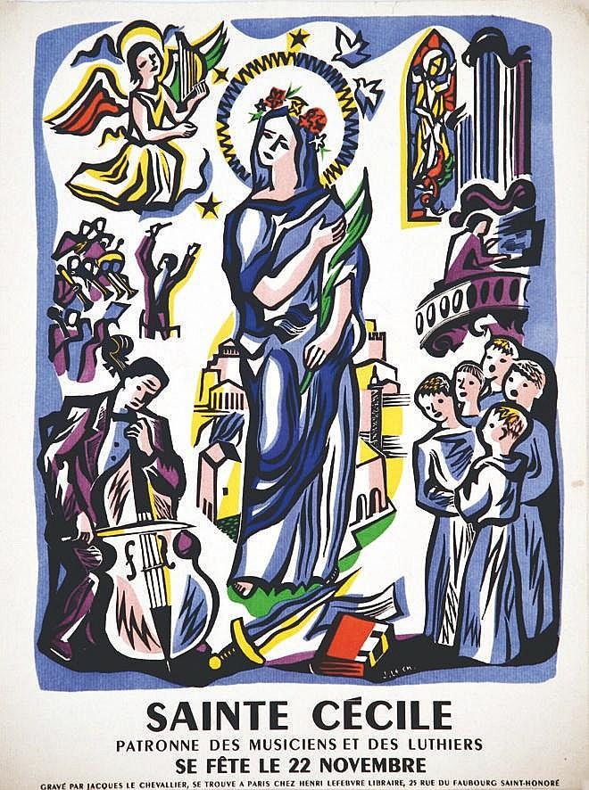 LE CHEVALLIER JACQUES  Sainte Cécile Patrone des Musiciens & Luthiers 22 Novembre     vers 1930