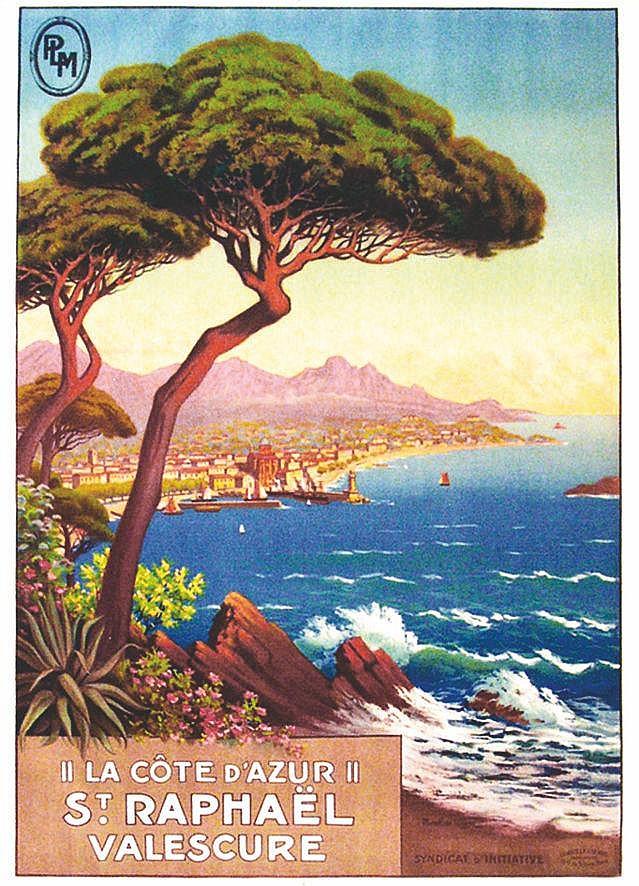 MOREL DE TANGRY  Saint Raphael - Valescure  - Affiche Encadrée / Poster Framed     vers 1920