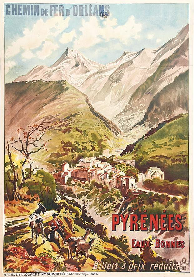 TRINQUIER TRIANON L.  Pyrénées - Eaux-Bonnes 1901     1901