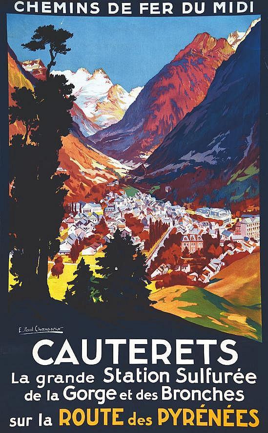 CHAMPSEIX  E. PAUL  Cauterets Route des Pyrénées     vers 1925