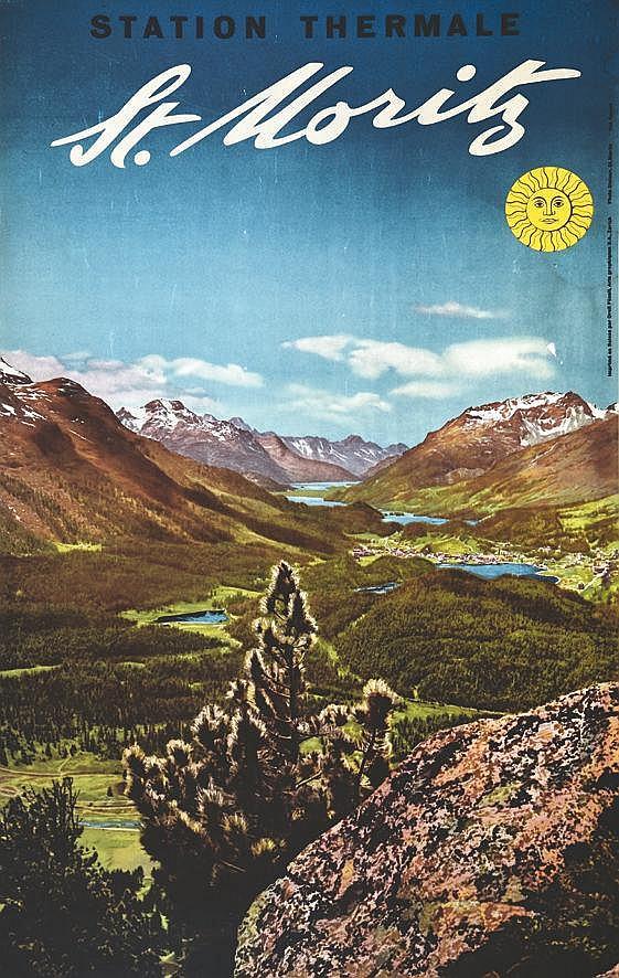 photo: STEINER  St. Moritz     vers 1950