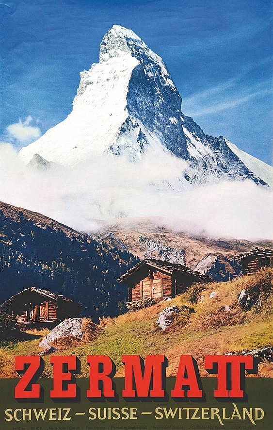 PHOTO: PERREN  Le Cervin - Zermatt  - Suisse     1967