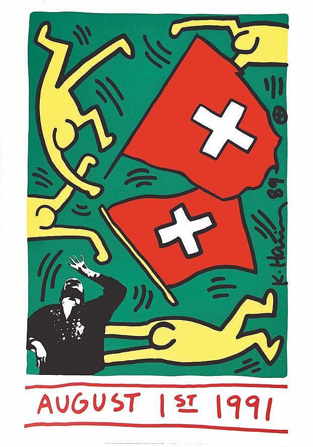 HARING KEITH  August 1 1991 ( Millenaire de la Suisse )     1991
