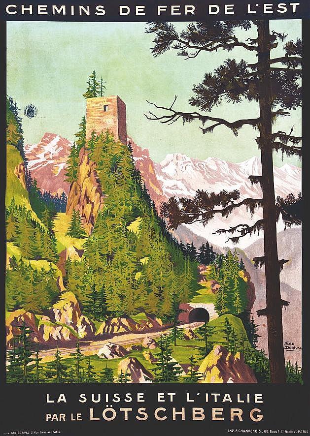 DORIVAL GEO  Le Lotschberg - La Suisse Et L'Italie - Par Le Lotschberg Chemins De Fer De L'est