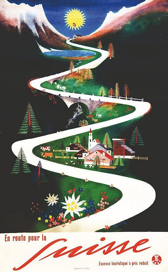 CARIGIET A. En route pour la Suisse 1957