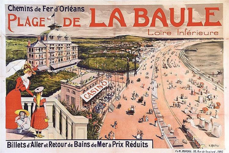 MORIN V. La Baule ( Photo avant entoilage ) vers 1898