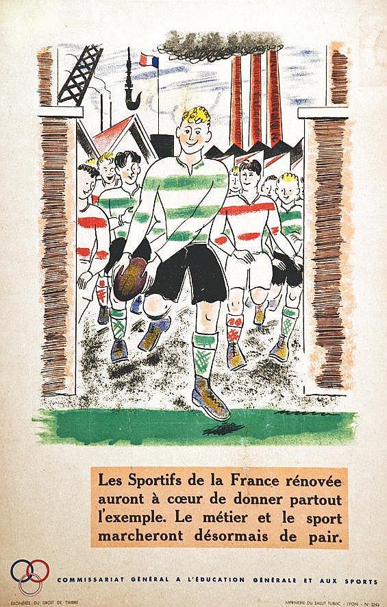 Rugby - Les Sportifs de la France     vers 1940
