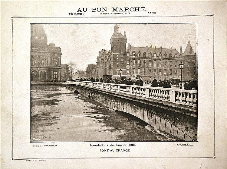 PHOTO : A. TARIDE  Pont Au Change Paris Inondations 1910     1910