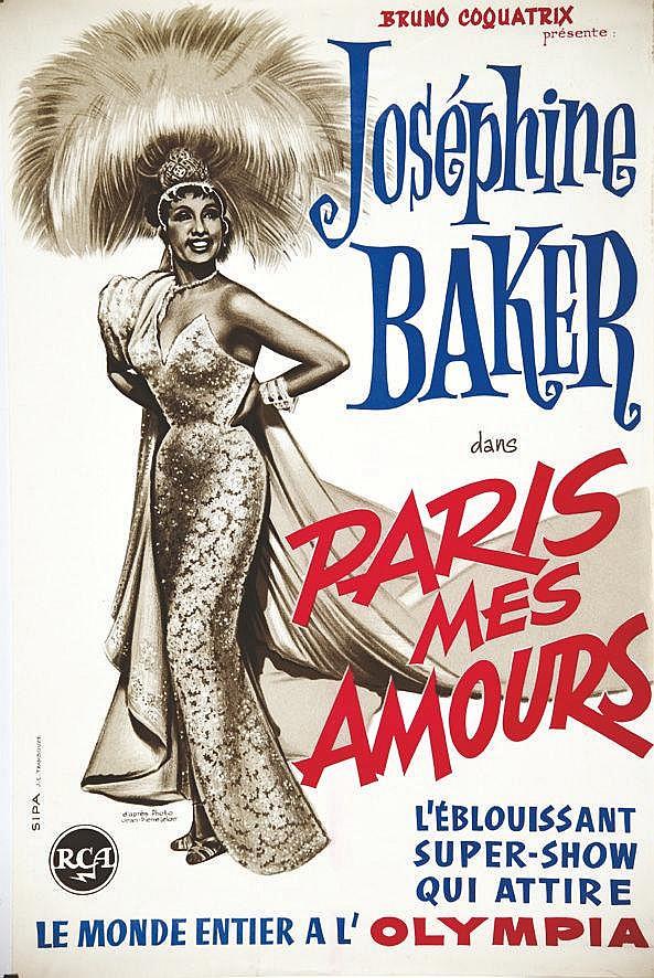 PHOTO : JEAN PIERRE LELOIR d'après Paris mes Amours - Joséphine Baker - Le Monde Entier à l'Olympia 1964
