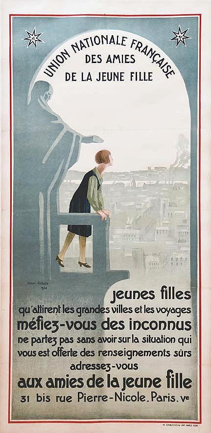 VALLETTE HENRI Aux Amies de la Jeune Fille - 31 Bis rue Pierre Nicole Paris V 1928